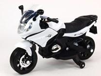 Dětská silniční závodní motorka 12V  - J558.white