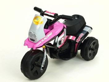 Dětská elektrická minimotorka  Racing růžová