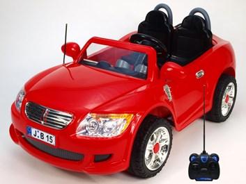 Dětské autíčko pro 2 děti s DO + FM červená