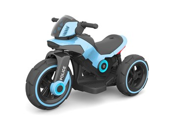 Dětská elektrická motorka VELKÁ 101cm, SLOŽENÁ modrá