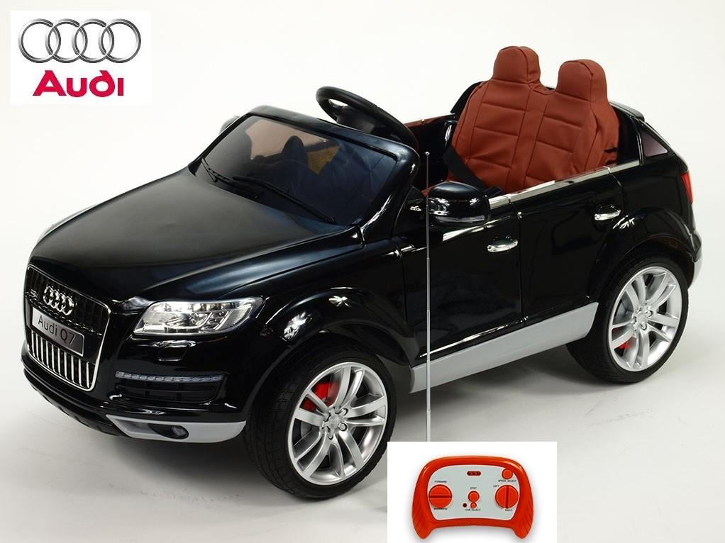 Dětské el. autíčko licenční Audi Q7 s plastovou černou sedačkou + 2,4G DO - HLQ7.black plastová sedačka