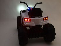 Dětská elektrická čtyřkolka Predátor bílá