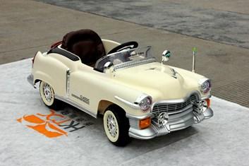 Dětské autíčko Retro KUBA NEW s 2,4G DO   béžová
