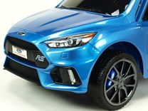 Ford Focus RS s 2.4G DO, FM, USB, TF, Mp3, LED osvětlením, otvíracími dveřmi, pérováním, čalouněnou sedačkou, EVA koly, modrá lakovaná - DKF777.blue