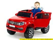Dětské el. autíčko Volkswagen Amarok 4x4 náhon všech kol, 2,4G DO - VWAmarok.red