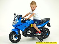 Dětská silniční závodní motorka 12V - J558.blue