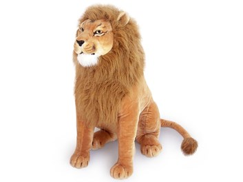Plyšový lev sedící