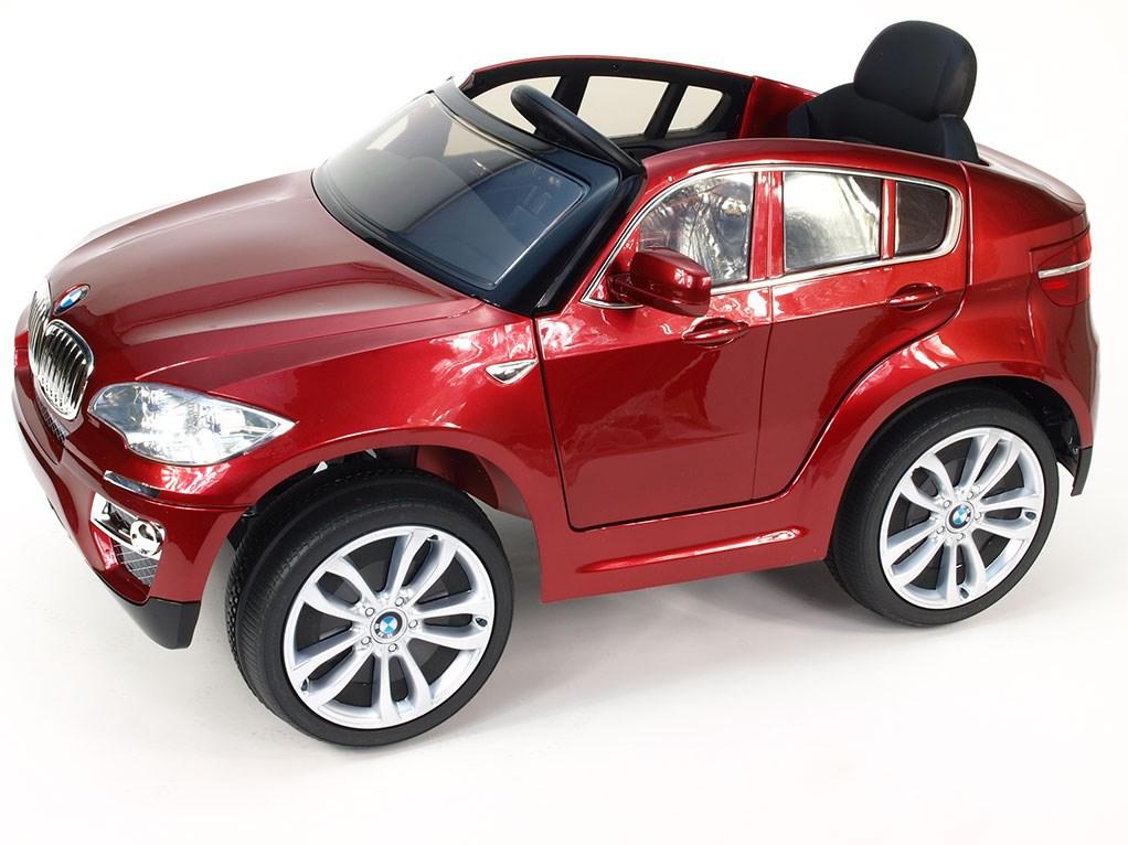DĚTSKÉ AUTÍČKO LICENČNÍ BMW X6 červená lakovaná