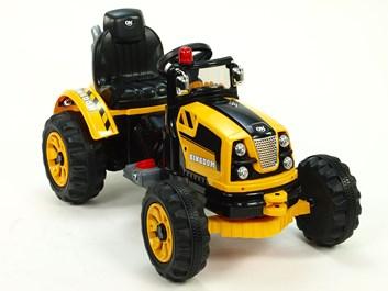 Dětský elektrický traktůrek Kingdom  žlutá