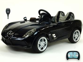 Dětské el. autíčko Mercedes-Benz SLR Mc Laren Stirling Moss s 2.4G bluetooth DOčerná