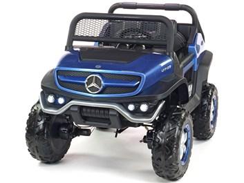 Dětský elektrický džíp Mercedes Benz Unimog, dvoumístný modrá SLOŽENÝ
