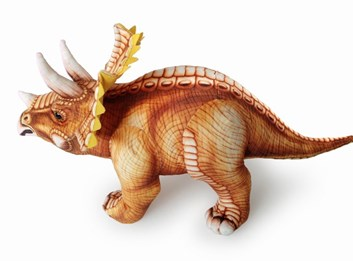 Plyšový dinosaurus Triceratops