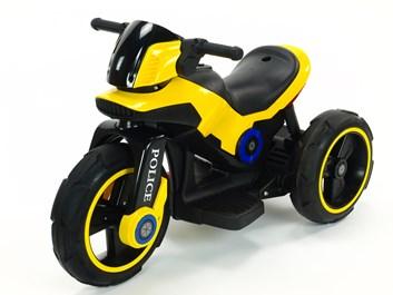 Dětská elektrická motorka VELKÁ 101cm s měkkými EVA koly ,žlutá
