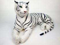Plyšový tygr bílý 160 cm