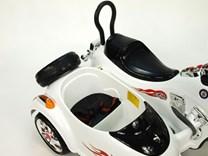 Dětská el.motorka se sajdkárou černá