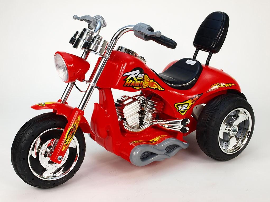 Dětská elektrická motorka Red Hawk