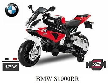 Dětská el. motorka licenční BMW červená