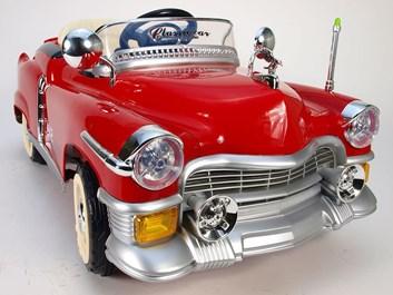 Dětské autíčko Retro KUBA NEW s 2,4G DO  červená  - II jakost