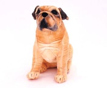 Plyšový sedící pes Mops