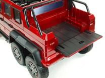 6 kolový Mercedes G63 AMG 4x4, dvoumístný, s 2.4G DO, plynulým rozjezdem, USB, otvíracími dveřmi, kapotou, čelem, pérováním, EVA koly, lakovaný ABL1801LAK. red