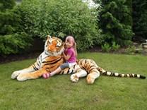 Tygr plyšový ležící 200cm