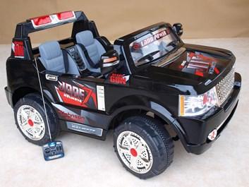 Elektrické autíčko dvoumístný teréňák s RC černá