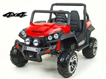 Dětská elektrická dvoumístná buggy V-Twin 4x4  s 2.4G dálkovým ovládáním ,červená