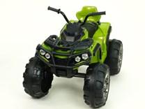 Dětská elektrická čtyřkolka Predátor s dálkovým ovládáním 2,4G - zelená