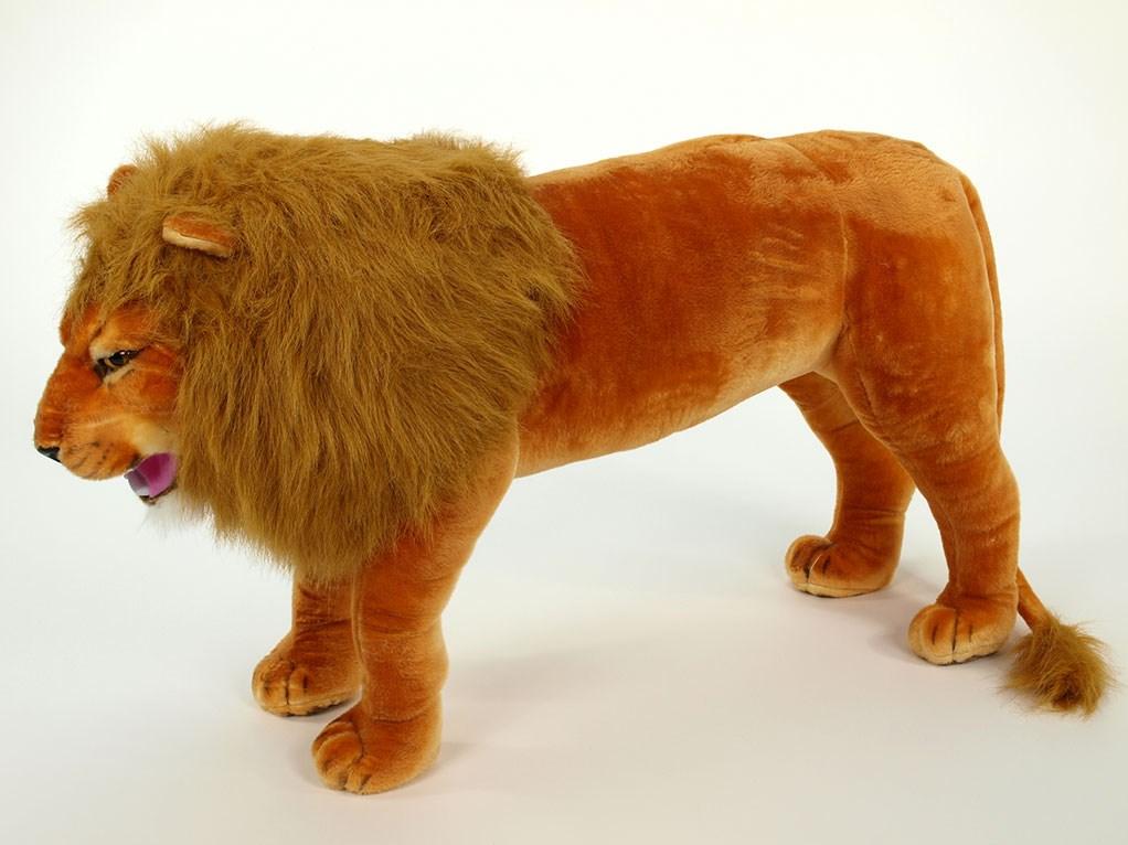 Plyšový stojící lev