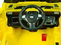 Mohutný elektrický džíp styl H2 Extender LUX s 2,4G dálkovým ovládáním, EVA koly žlutá