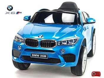 Dětské elektrické autíčko  SUV BMW X6M jednomístné modré