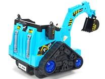 Dětský elektrický bagr - FL858 modrý