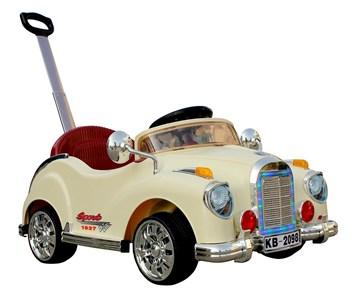 Dětské elektrické autíčko Retro  béžové