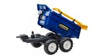 Vlek za traktor dvounápravový s nářadím , výklopný , délka 87cm  modrý