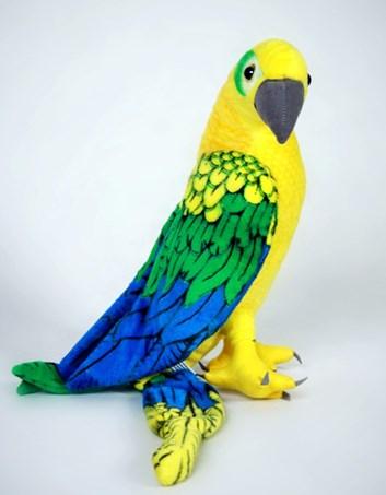 Plyšový papoušek ARA zelený  58cm
