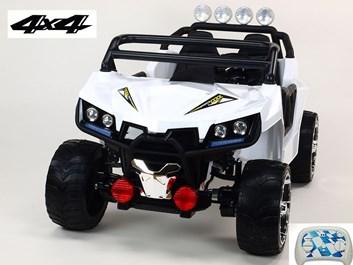 Dvoumístná Buggy Cool sport 4x4, náhon 4 EVA kol, s 2.4G DO, USB, TF, Mp3, čalouněnou sedačkou 54cm, nádherným LED osvětlením , bílá