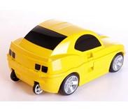 Dětský cestovní  kufr AUTO - žluté