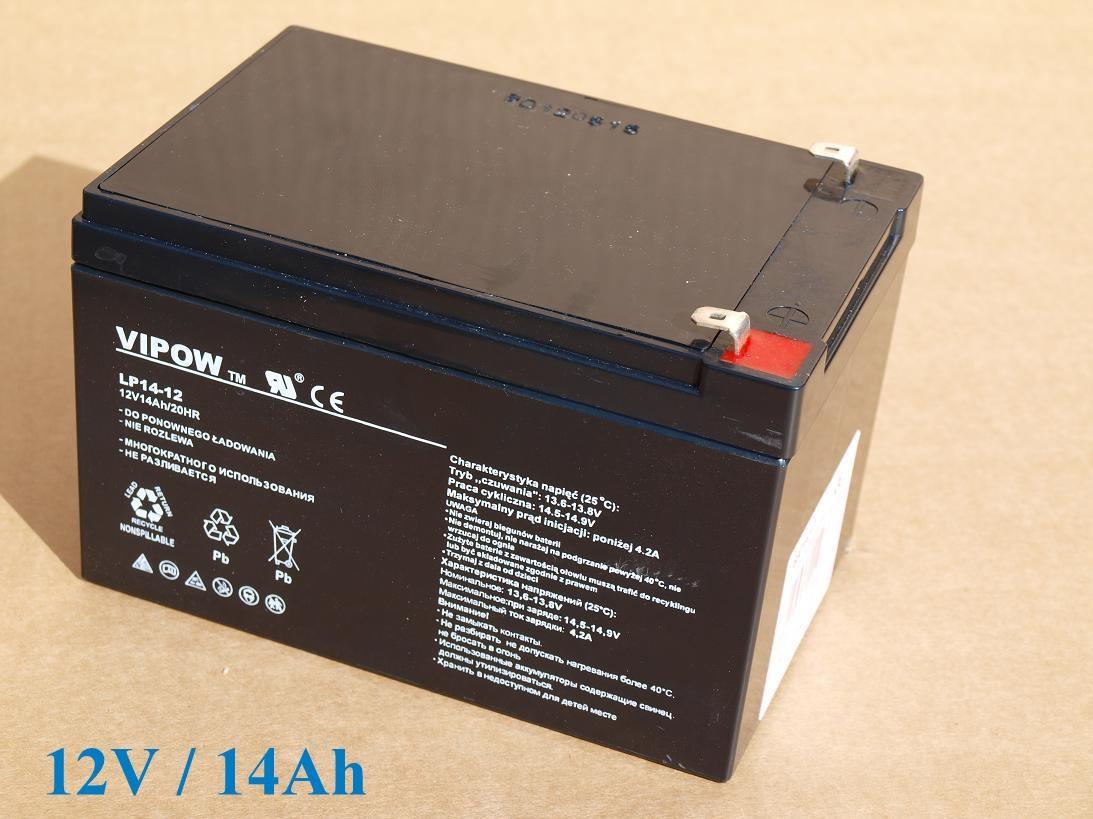 Baterie gelová VIPOW 12V/14Ah/20HR pro dětská vozítka