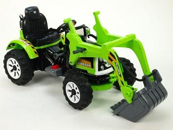 Dětský elektrický traktůrek Kingdom se lžící - JS328B.green