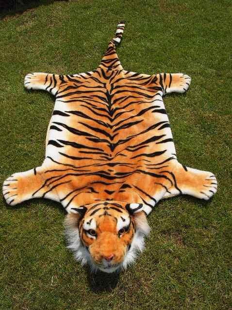 Plyšová předložka - tygr - M