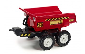 Vlek za traktor veliký, výklopný, dvounápravový, délka 87cm