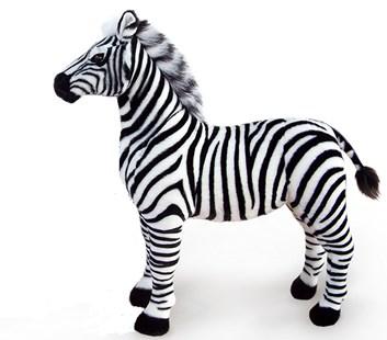 Plyšová stojící zebra