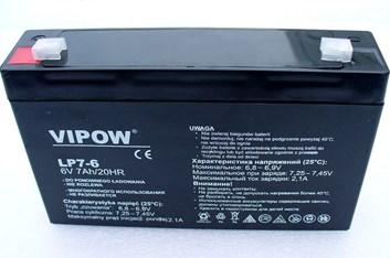 Baterie gelová Vipow 6V/7Ah pro dětská autíčka