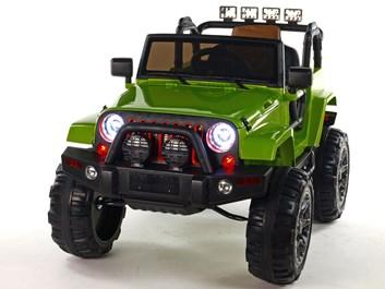 Dětské elektrické autíčko džíp Wrangler LUX s 2,4G DO zelená SLOŽENÉ