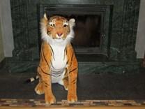Plyšový tygr sedící