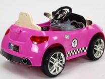 Dětské el. autíčko s RC a ovládací tyčí - GTR88A.pink