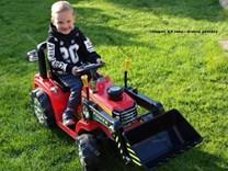 Dětský elektrický traktor se lžící