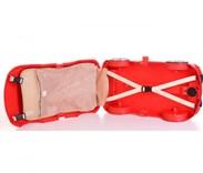 Dětský cestovní  kufr AUTO - červené