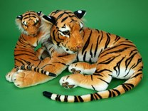Plyšová tygřice s mláďetem