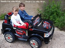 Elektrické autíčko dvoumístný teréňák s RC